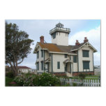 """Save The Date Announcement Point Fermin Lighthouse 3.5"""" X 5"""" Invitation Card"""
