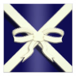 Save the Date Announcement Scottish Saltire Ribbon