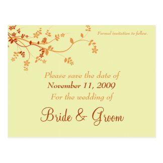 Save The Date Announcement - Warm Autumn Post Cards