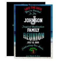 Save The Date Any Name Destination Reunion Card