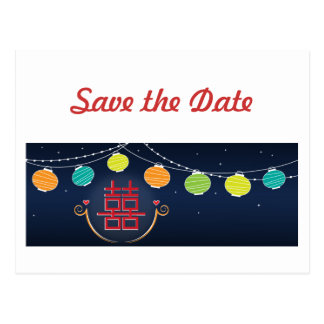 Save the Date Asian Wedding Postcard