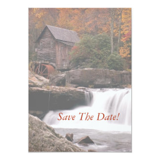 Save The Date, Autumn In The Country Wedding Card