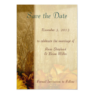 Save the Date Autumn Wedding Announcement