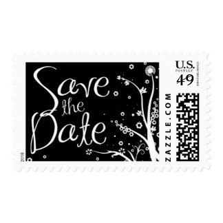 Save The Date B/W Postage