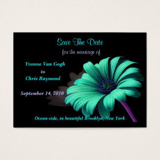 Save The Date Baby Blue Daisy Business Card