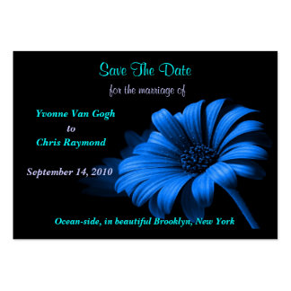 Save The Date Baby Blue Daisy I Large Business Cards (Pack Of 100)