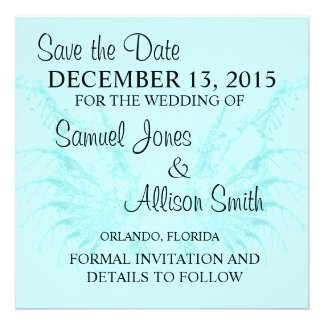Save the Date Baby Blue Wings Wedding Invitation