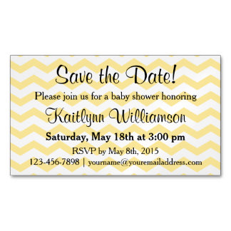 Save the Date Baby Shower Magnetic Card Reminder