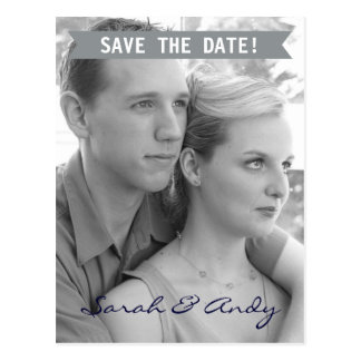 Save the Date Banner Postcard