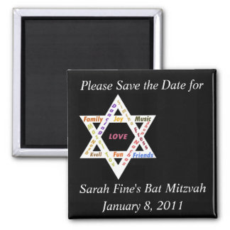 Save the date Bar or Bat Mitzvah Magnet