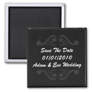 Save The Date Baroque - Wedding Invitation Invite 2 Inch Square Magnet