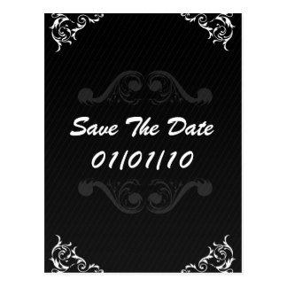 Save The Date Baroque - Wedding Invitation Invite Postcard