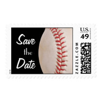 Save the Date baseball Game Birthday Stamp