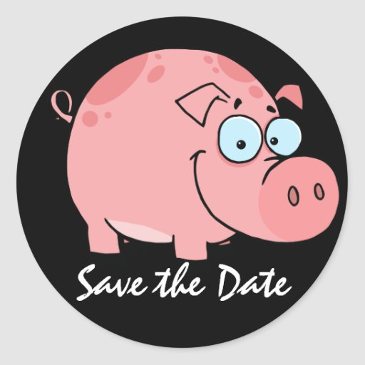 Save the Date - BBQ - Party - SRF Round Sticker