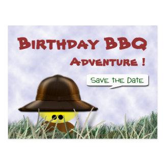 Save The Date BBQ Postcard
