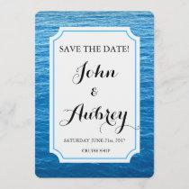 Save the Date Beach Cruise Ship Wedding