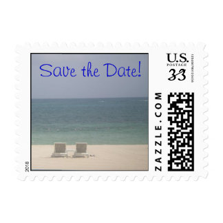 Save the date Beach Ocean Postage