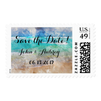 Save the Date Beach or Tropical Island Wedding Postage