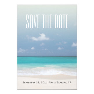 Save The Date Beach Personalized Wedding 3.5x5 Paper Invitation Card