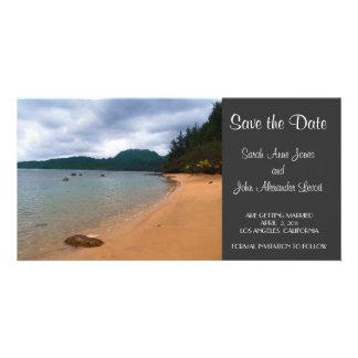 Save the Date Beach Photocard Photo Card