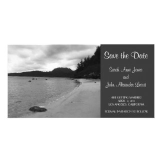 Save the Date Beach Photocard Card