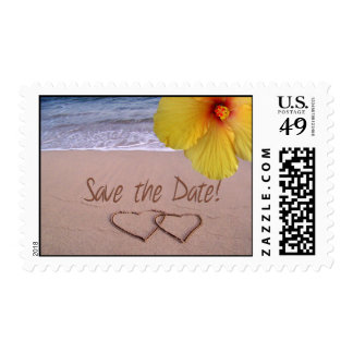 Save the date Beach Postage