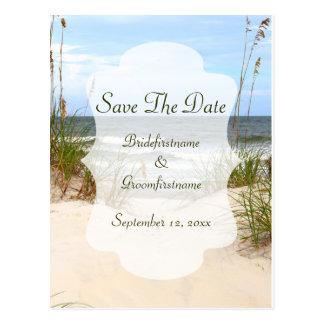 Save The Date Beach Postcard