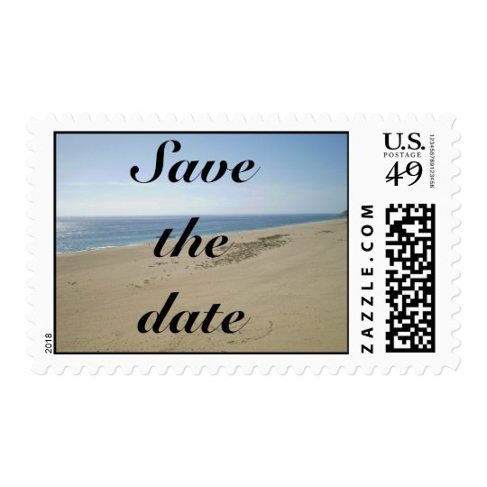 Save the Date Beach stamp