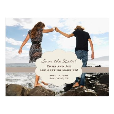 Beach Themed Save the Date beach style! Postcard
