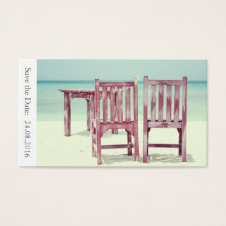 Save the Date Beach Wedding - Business Card
