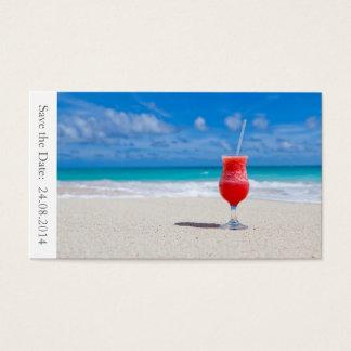 Save the Date Beach Wedding - Business Card