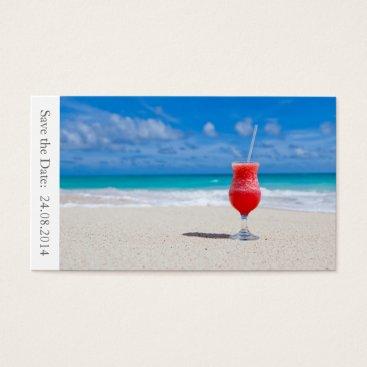 Beach Themed Save the Date Beach Wedding - Business Card