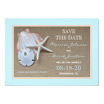 Save the Date Beach Wedding Invitation