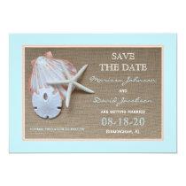 Save the Date Beach Wedding Invitation