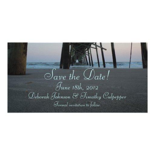 Save the Date - Beach Wedding Photo Greeting Card