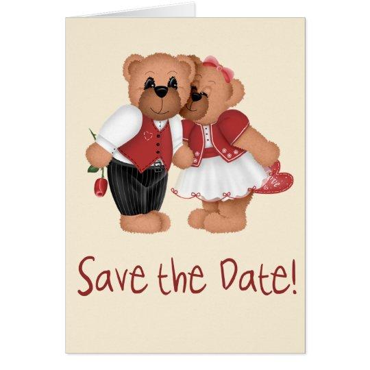 Save the Date Bears Card