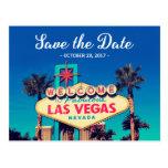 Save the Date - Beautiful Retro Las Vegas Photo Postcard