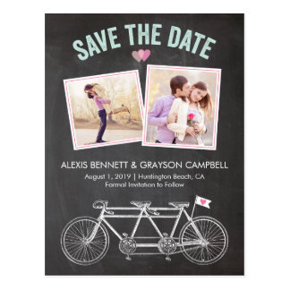 Save the Date | Bicycle Chalkboard Postcard