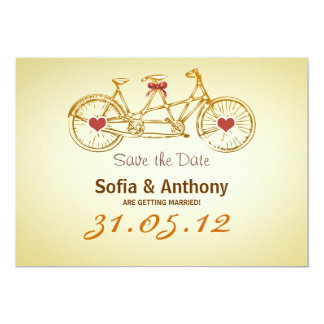 save the date bicycle cute sweet invitations