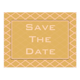 save the date biege postcard