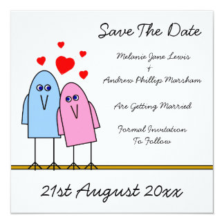 Save The Date ~ Birdy Love Card