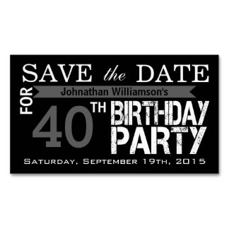 Save the Date Birthday Magnetic Card Reminders