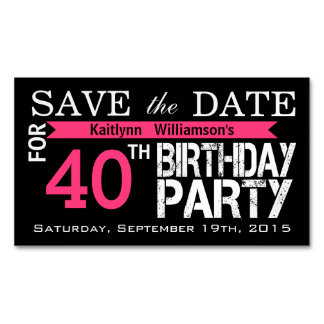 Birthday Save The Date Business Cards & Templates | Zazzle