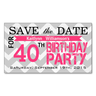 Save the Date Birthday Magnetic Card Reminders Magnetic Business Cards (Pack Of 25)