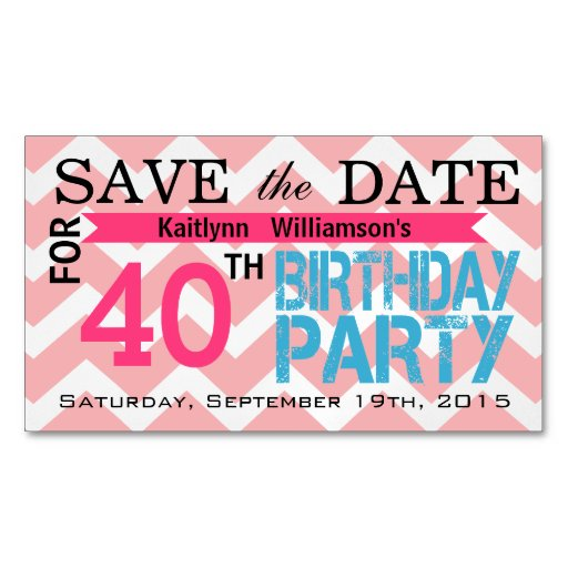 Save The Date Birthday Magnetic Card Reminders Magnetic Business Cards Pack Of 25