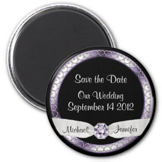 Save the Date Black and Silver Magnet
