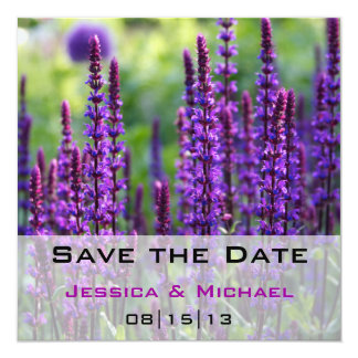 Save the Date Blooming Flowers Lilac Lavender Anno Card