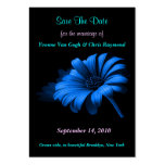 Save The Date Blue Daisy II Business Card