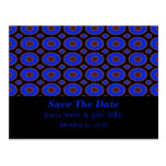 save the date blue flower post cards