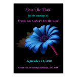Save The Date Blue Grey Daisy Business Card